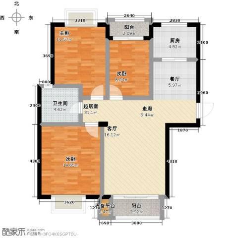 美树日记3室0厅1卫1厨117.00㎡户型图