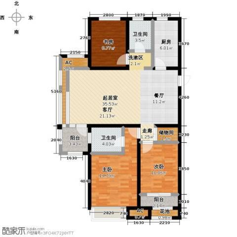 国耀上河城3室0厅2卫1厨131.00㎡户型图