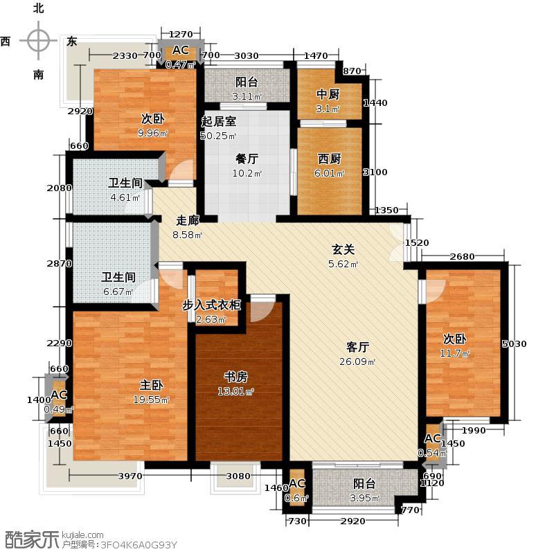海河大道宽景公寓6号楼1门01户型