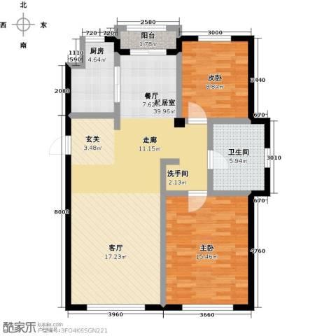 美树日记2室0厅1卫1厨110.00㎡户型图