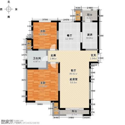 格调艺术领地2室0厅1卫1厨160.00㎡户型图