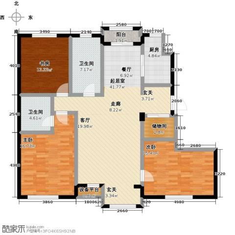 美树日记3室0厅2卫1厨157.00㎡户型图