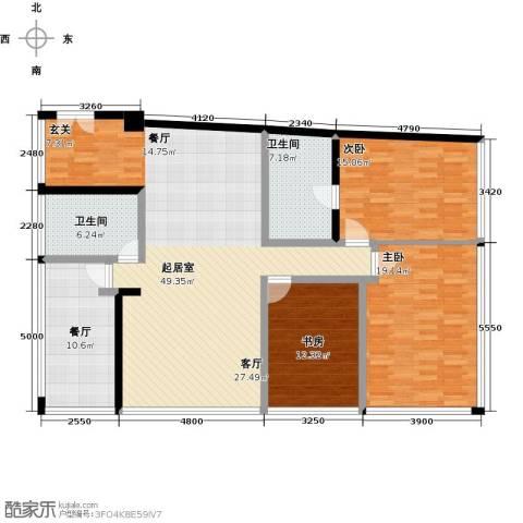 C-PARK西派国际公寓3室1厅2卫0厨191.00㎡户型图