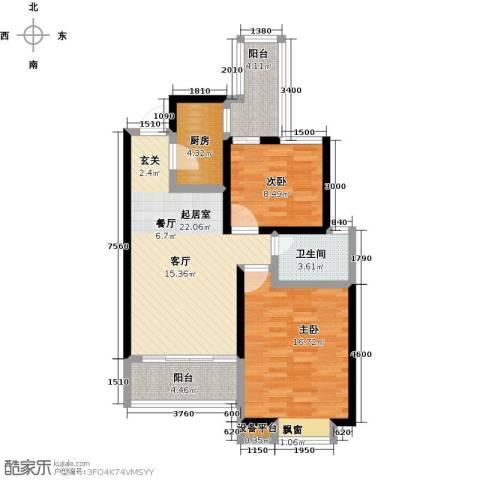 阳光北京城2室0厅1卫1厨94.00㎡户型图
