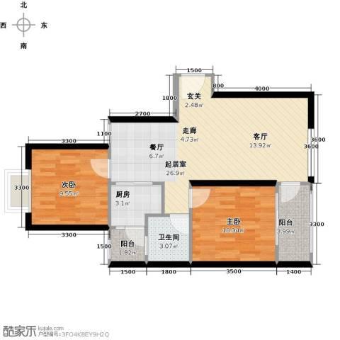 融汇半岛(二期)2室0厅1卫1厨82.00㎡户型图