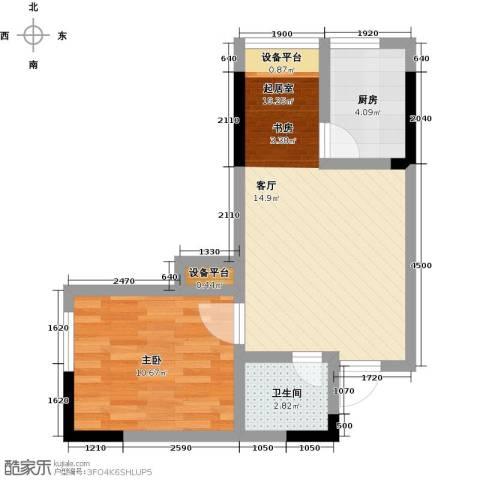 正升百老汇广场1室0厅1卫1厨45.00㎡户型图