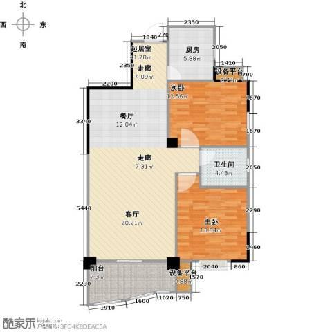华江.乐天花亭2室0厅1卫1厨117.00㎡户型图