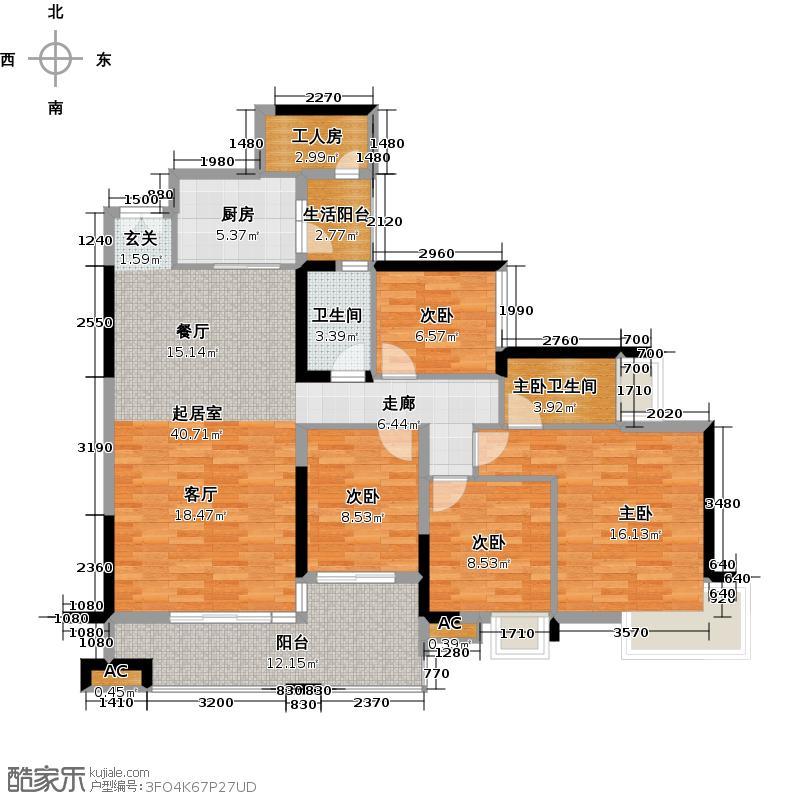 淘金家园C组团C5-1栋01户型4室1卫1厨