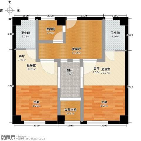 康乃馨国际老年生活示范城2卫0厨92.00㎡户型图