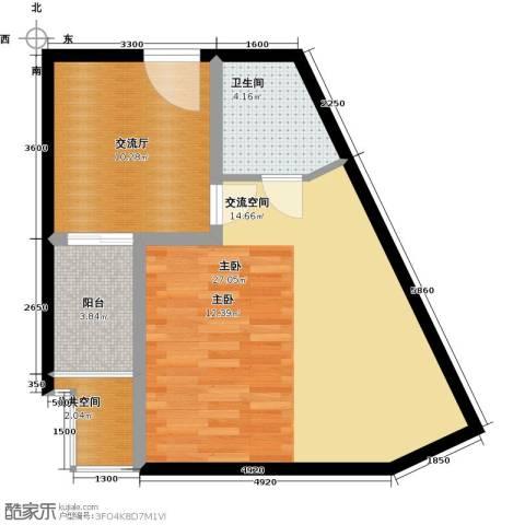 康乃馨国际老年生活示范城1室0厅1卫0厨68.00㎡户型图