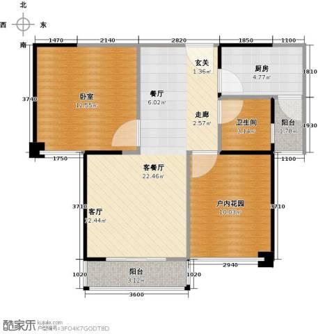 创森财富中心1厅1卫1厨79.00㎡户型图