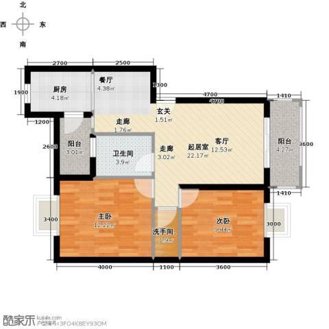 融汇半岛(二期)2室0厅1卫1厨87.00㎡户型图