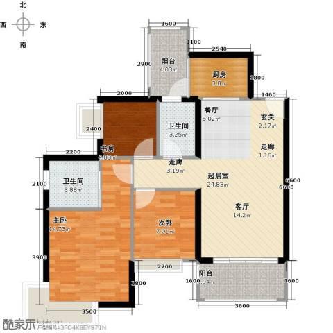 融汇半岛(二期)3室0厅2卫1厨101.00㎡户型图