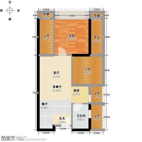 尚书银座1室1厅1卫0厨83.00㎡户型图