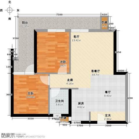 第一国际三期2室1厅1卫0厨99.00㎡户型图