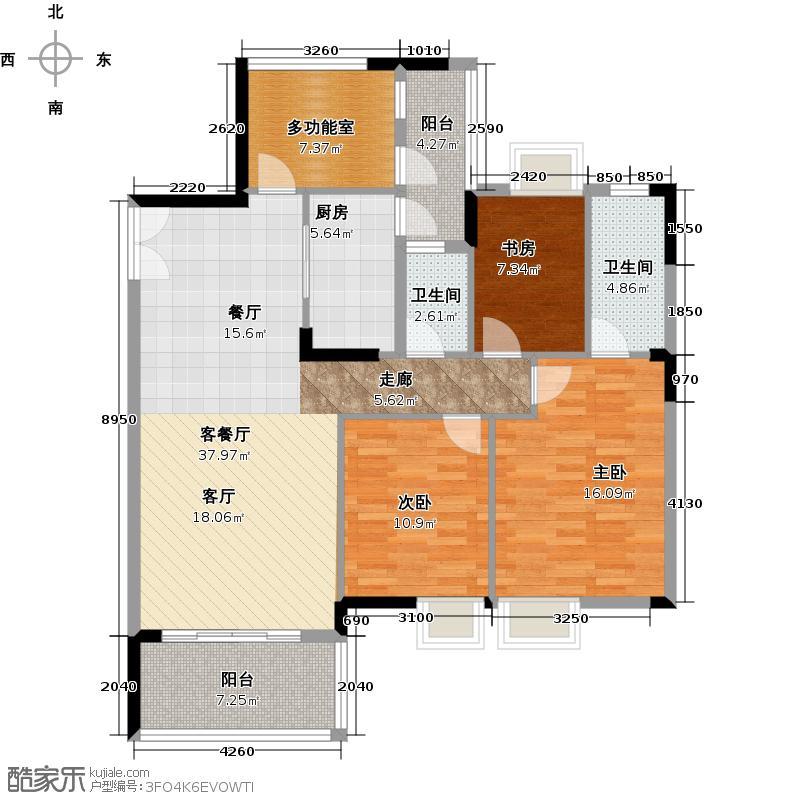 日出观山户型3室1厅2卫1厨