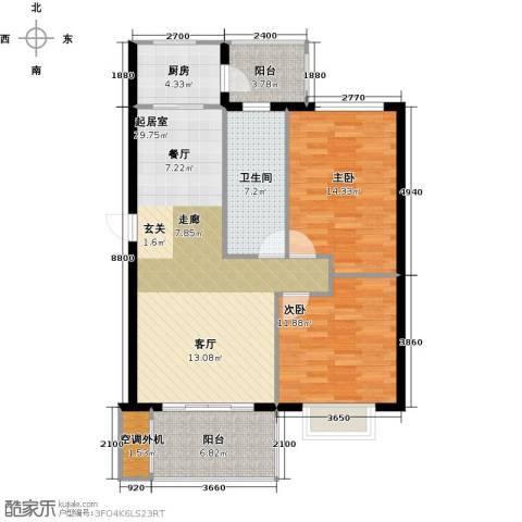 盛世闲庭二期2室0厅1卫1厨111.00㎡户型图
