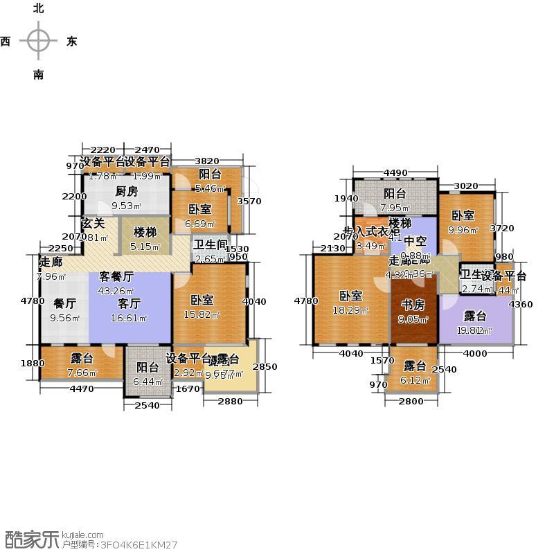 鑫苑名家205.00㎡五室两厅两卫户型5室2厅2卫