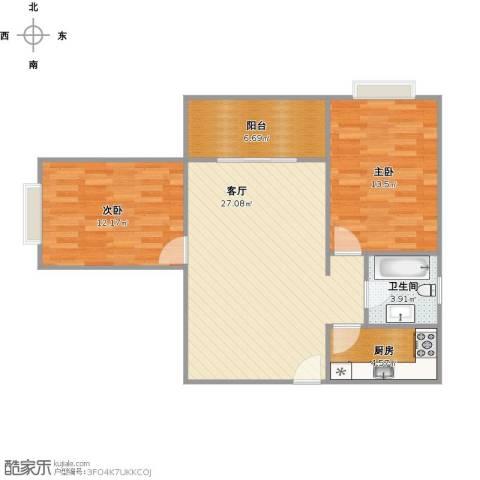 世纪锦绣2室1厅1卫1厨91.00㎡户型图