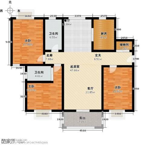 景乐南一村商品房3室0厅2卫1厨175.00㎡户型图