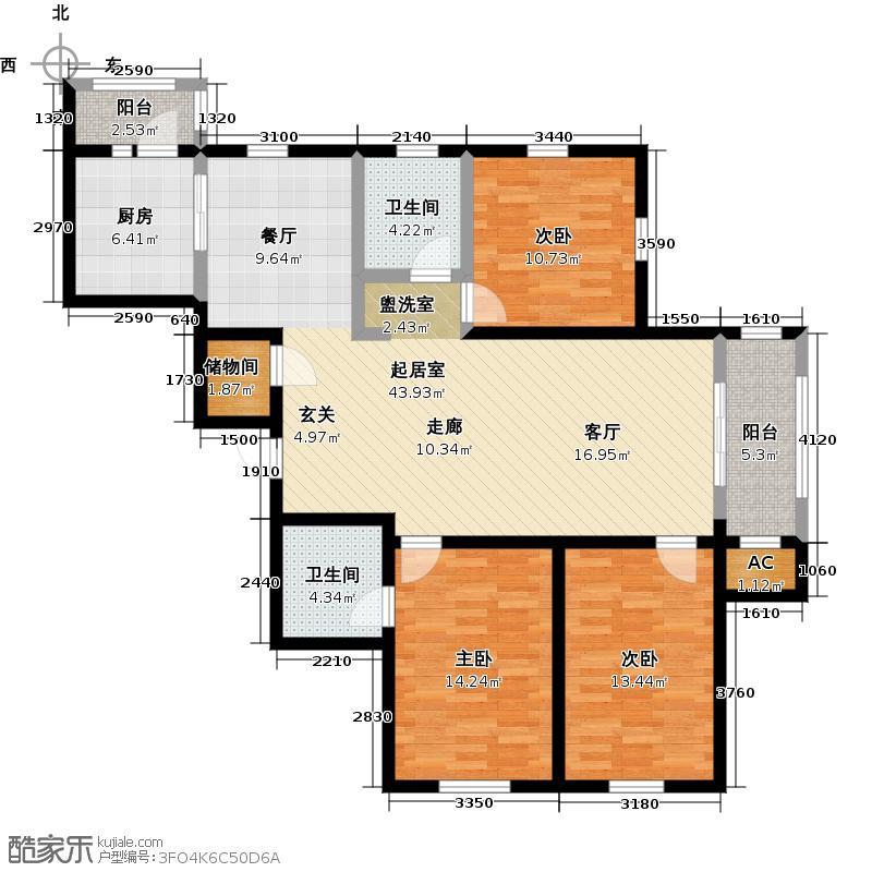 巴黎第五区C4-T户型3室2卫1厨