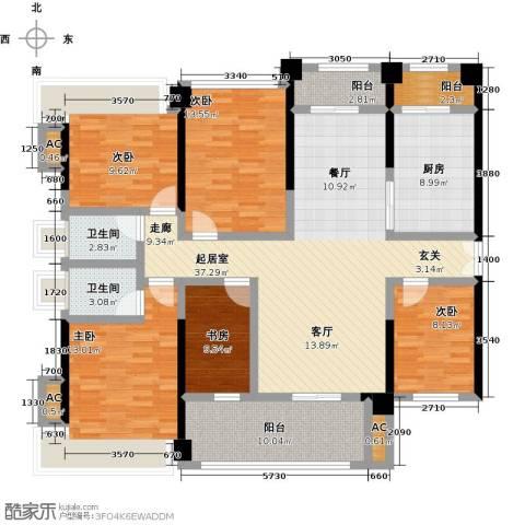 金亨利都荟首府5室0厅2卫1厨130.00㎡户型图