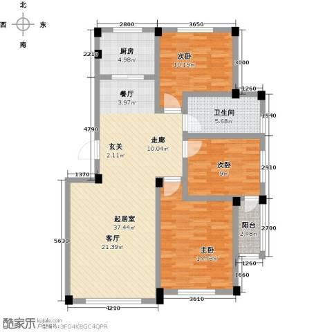 桃源山庄峰景3室0厅1卫1厨121.00㎡户型图