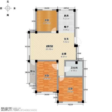 桃源山庄峰景3室0厅1卫0厨141.00㎡户型图
