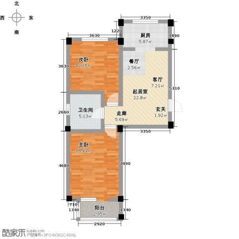桃源山庄峰景2室0厅1卫0厨85.00㎡户型图