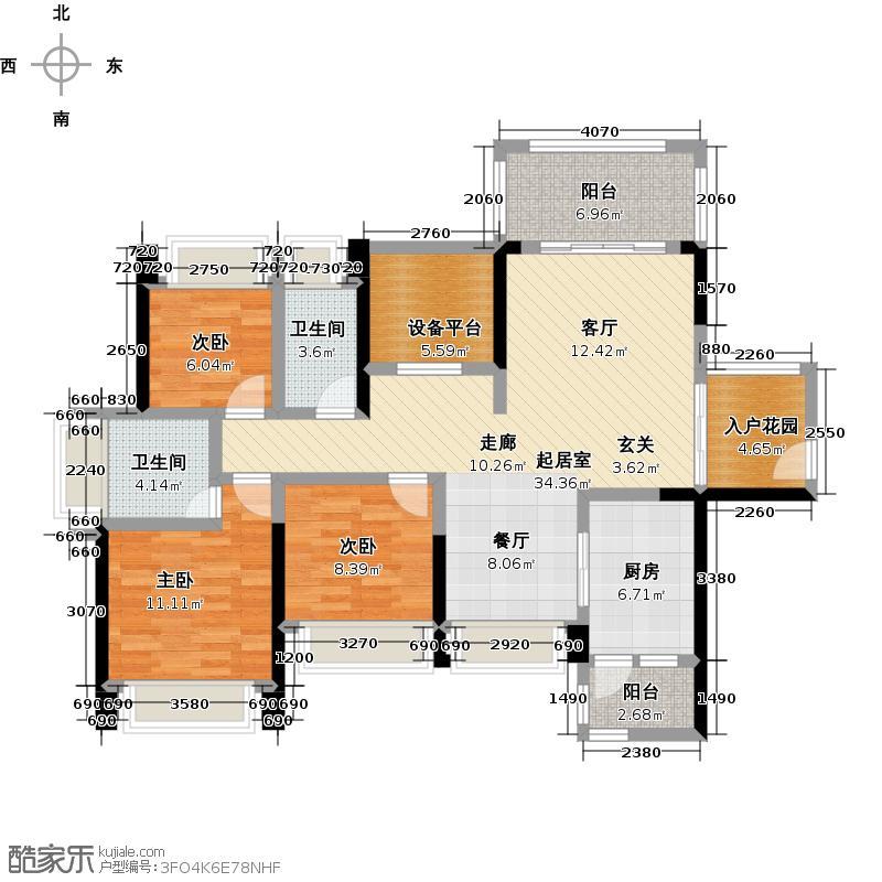 广兴源圣拿威7栋A_D型户型3室2卫1厨
