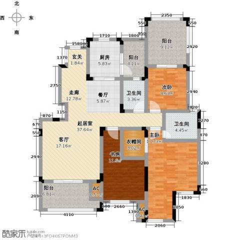 香漫溪岸3室0厅2卫1厨143.00㎡户型图