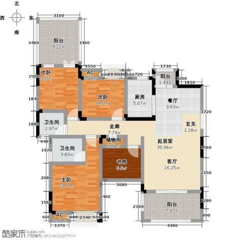 香漫溪岸4室0厅2卫1厨122.00㎡户型图