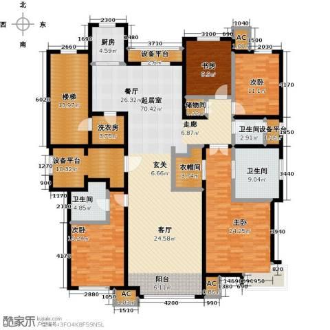 华润・润西山4室0厅3卫1厨209.00㎡户型图