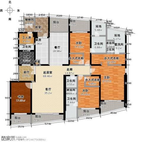 湖滨御景花园4室0厅5卫1厨340.00㎡户型图