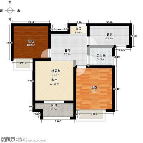 豪森名邸2室0厅1卫1厨81.00㎡户型图