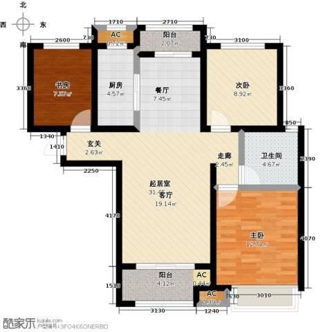 豪森名邸3室0厅1卫1厨114.00㎡户型图