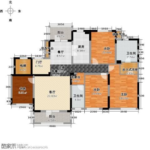 新地阿尔法国际社区4室1厅2卫1厨165.00㎡户型图