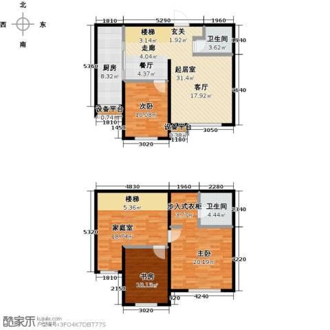 亿利城・滨河湾3室0厅2卫1厨139.00㎡户型图