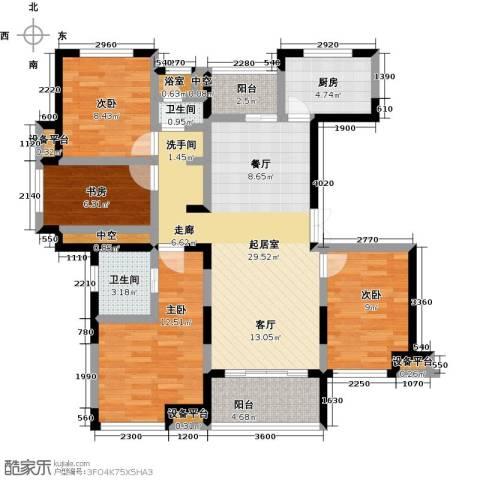新力帝泊湾4室0厅2卫1厨122.00㎡户型图