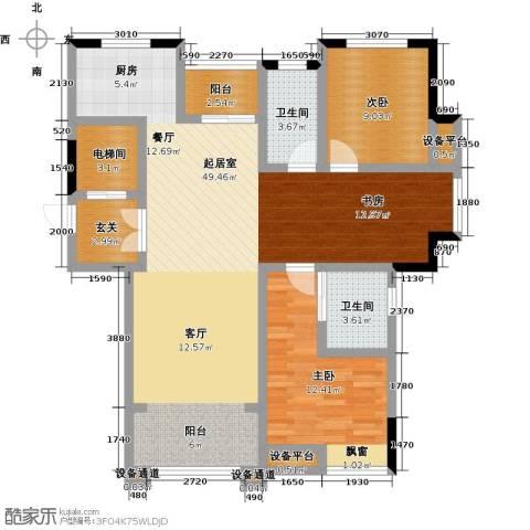 新力帝泊湾2室0厅2卫0厨103.00㎡户型图