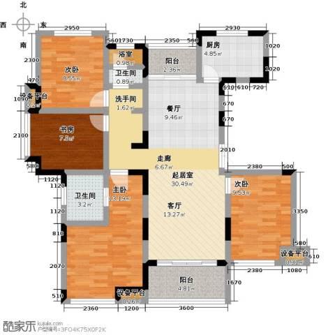 新力帝泊湾4室0厅2卫1厨104.00㎡户型图