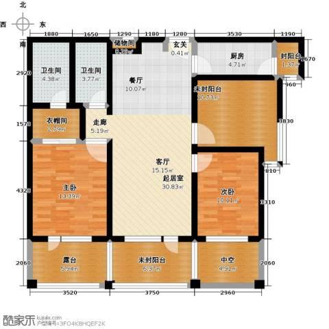 富力丹麦小镇2室0厅2卫1厨117.26㎡户型图