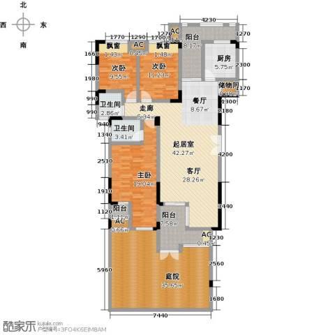 兰亭雅舍3室0厅2卫1厨149.23㎡户型图