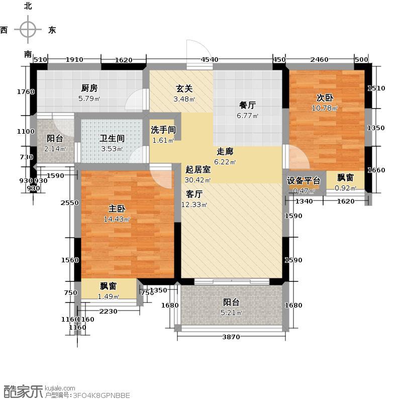 勤诚达新界135.18㎡D-2户型3室2厅1卫