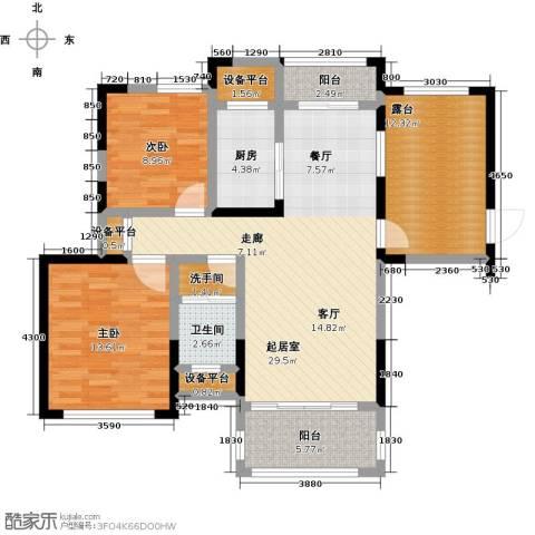 学府馨苑2室0厅1卫1厨97.00㎡户型图