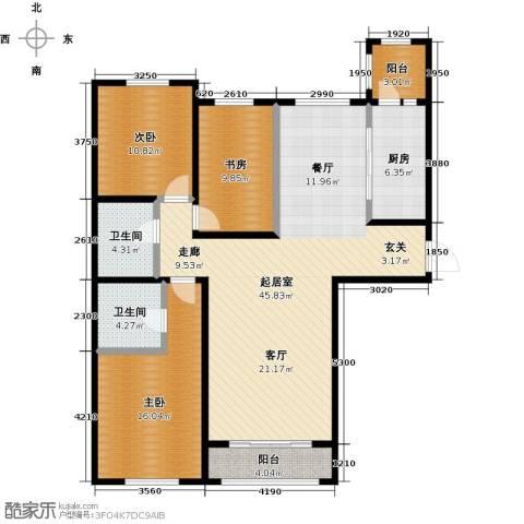 亿利城・滨河湾3室0厅2卫1厨148.00㎡户型图