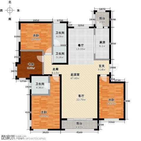 亿利城・滨河湾4室0厅3卫1厨174.00㎡户型图