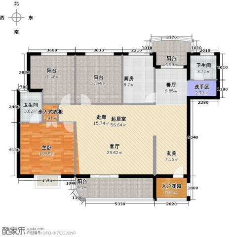 锦绣花园1室0厅2卫1厨148.00㎡户型图