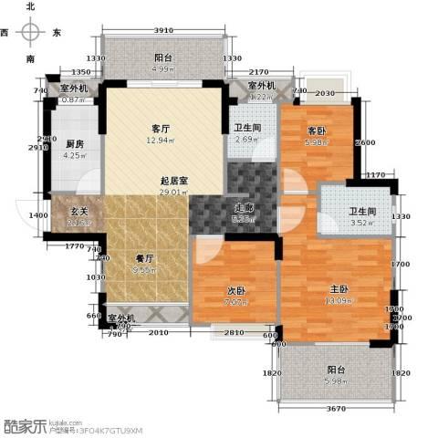 仁文大儒世家绿园3室0厅2卫1厨113.00㎡户型图