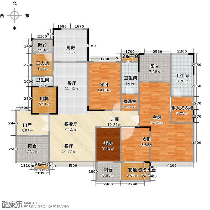 荣和大地182.00㎡荣和大地182.00㎡4室2厅2卫户型4室2厅2卫